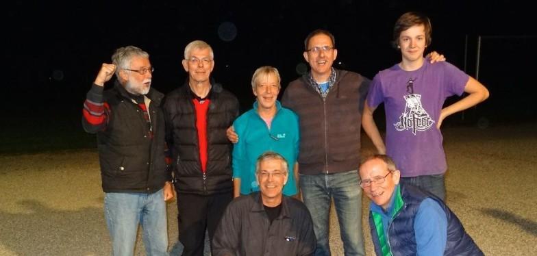 Die Tagessieger: Hanns-Jörg, Horst, Renate, Walter, Helge, Bodo und Marvin (ohne Carsten F.)