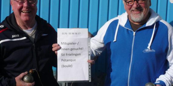 SV Frielingen sucht Mitspieler