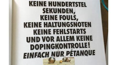 40 Jahre Pétanque bei Eintracht
